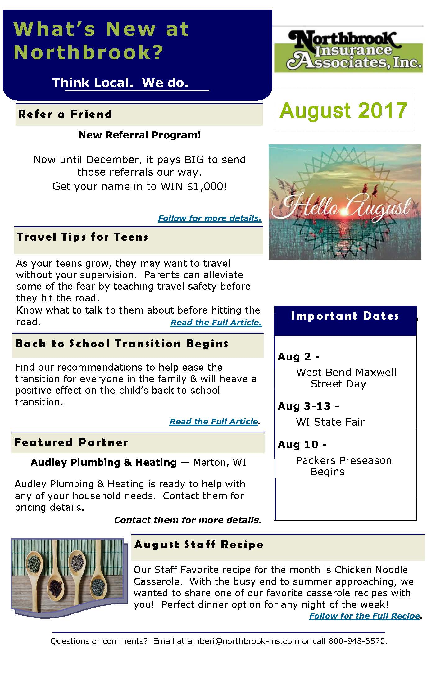 Northbrook-Newsletter-August17